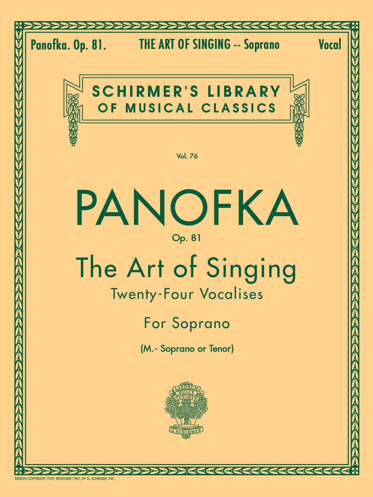 Art Of Singing Op. 81 Mezzo Ou Ténor - laflutedepan.com