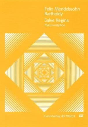 Salve Regina MENDELSSOHN Partition Mélodies - laflutedepan
