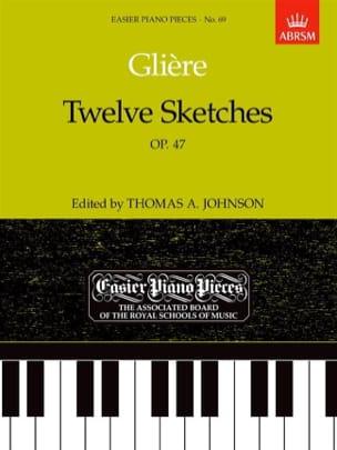 12 Sketches Opus 47 Reinhold Glière Partition Piano - laflutedepan