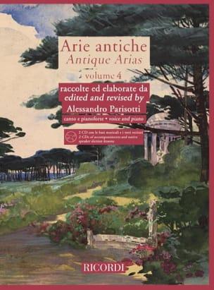 Arie Antiche Volume 4 + 2 CD Alessandro Parisotti laflutedepan
