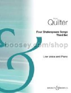 4 Shakespeare songs - third set Roger Quilter Partition laflutedepan
