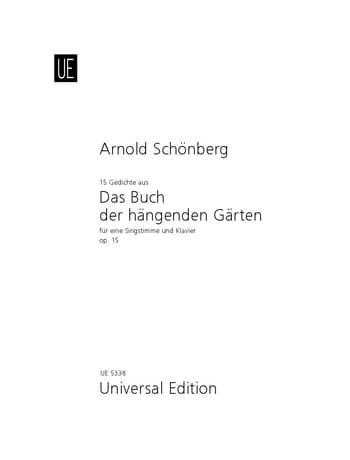 15 Gedichte Aus das Buch Der Hängenden Gärten Opus 15 - laflutedepan.com