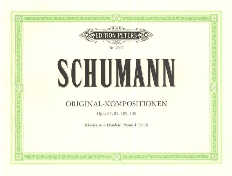 Compositions Originales. 4 Mains - SCHUMANN - laflutedepan.com