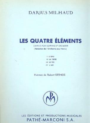 Les 4 Eléments - MILHAUD - Partition - Mélodies - laflutedepan.com