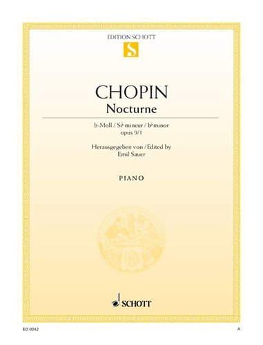 Nocturne Si Bémol Mineur Op. 9-1 - CHOPIN - laflutedepan.com
