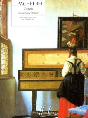 Canon sur une Basse Obstinée PACHELBEL Partition Piano - laflutedepan