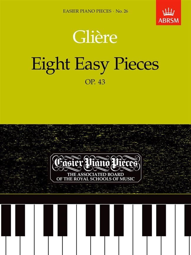 8 Easy Pieces Opus 43 - Reinhold Glière - Partition - laflutedepan.com