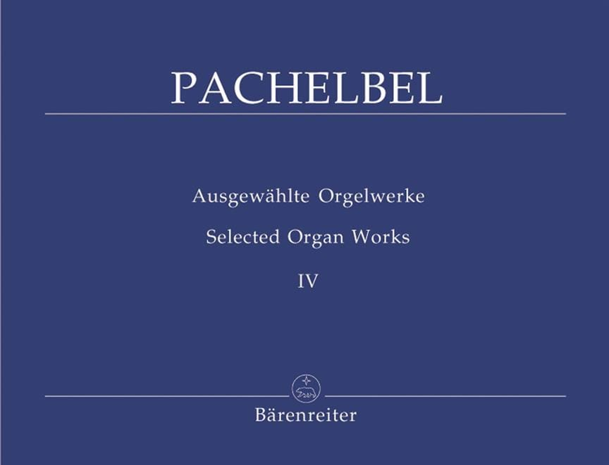 Oeuvre Pour Orgue Volume 4 - PACHELBEL - Partition - laflutedepan.com