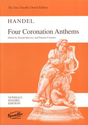 4 Coronation Anthems HAENDEL Partition Chœur - laflutedepan