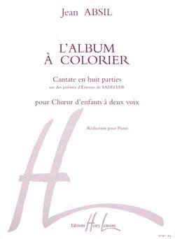 Album A Colorier Opus 68 Jean Absil Partition Chœur - laflutedepan