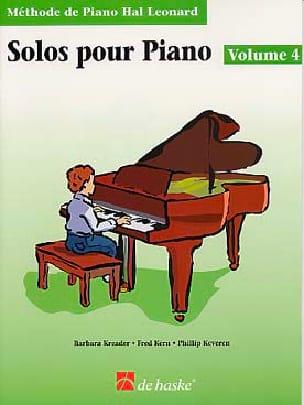 Solos Pour Piano Volume 4 Kreader / Kern Jerome / Keveren laflutedepan