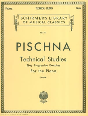 Technical Studies Johann Pischna Partition Piano - laflutedepan