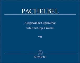 Oeuvre Pour Orgue Volume 7 PACHELBEL Partition Orgue - laflutedepan