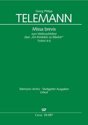 Ein Kindelein So Löbelich Tvwv 9-5 - TELEMANN - laflutedepan.com