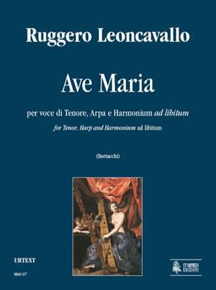 Ave Maria Ruggiero Leoncavallo Partition Harpe - laflutedepan