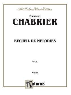 Recueil de Mélodies CHABRIER Partition Mélodies - laflutedepan