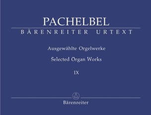Oeuvre Pour Orgue Volume 9 PACHELBEL Partition Orgue - laflutedepan