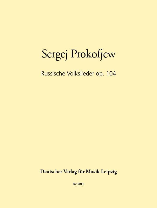 Russische Volkslieder Op. 104 - PROKOFIEV - laflutedepan.com