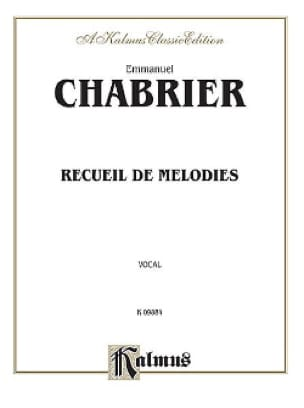 Recueil de Mélodies - CHABRIER - Partition - laflutedepan.com