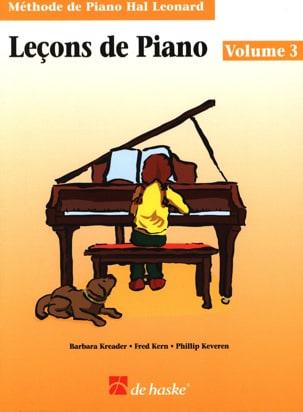 Leçons de Piano Volume 3 Kreader / Kern Jerome / Keveren laflutedepan