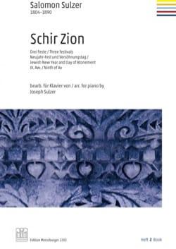 Schir Zion. Volume 2 - Salomon Sulzer - Partition - laflutedepan.com