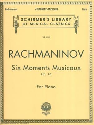6 Moments Musicaux Opus 16 RACHMANINOV Partition Piano - laflutedepan