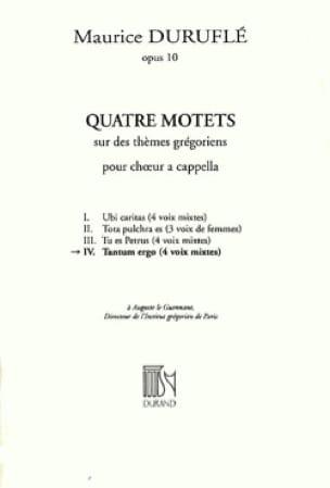 Tantum Ergo - DURUFLÉ - Partition - Chœur - laflutedepan.com