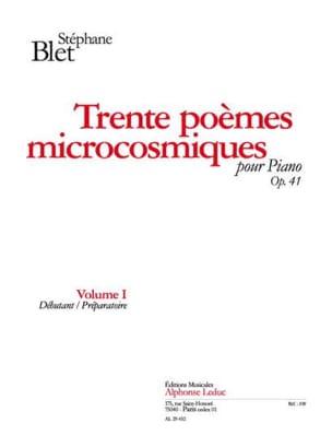 30 Poèmes Microcosmiques Opus 41 Vol 1 Stéphane Blet laflutedepan