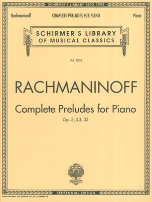 Préludes RACHMANINOV Partition Piano - laflutedepan
