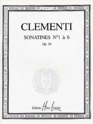 Sonatines Opus 36 - CLEMENTI - Partition - Piano - laflutedepan.com