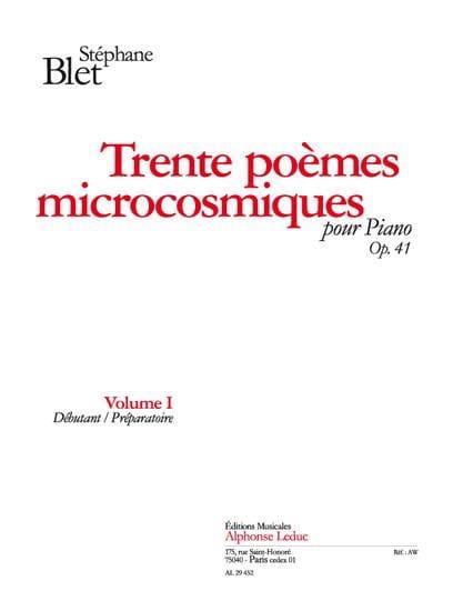 30 Poèmes Microcosmiques Opus 41 Vol 1 - laflutedepan.com