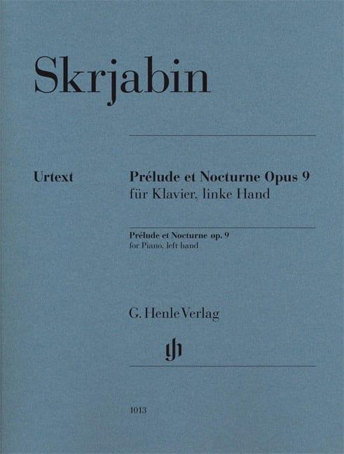 Prélude et Nocturne Opus 9 - SCRIABINE - Partition - laflutedepan.com