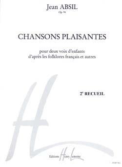 Chansons Plaisantes Opus 94 volume 2 Jean Absil Partition laflutedepan