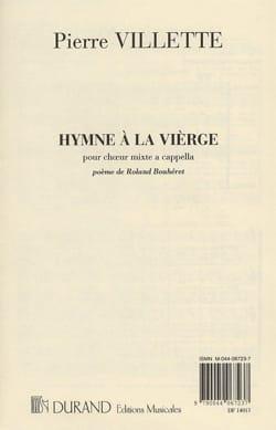 Hymne à la Vierge Pierre Villette Partition Chœur - laflutedepan