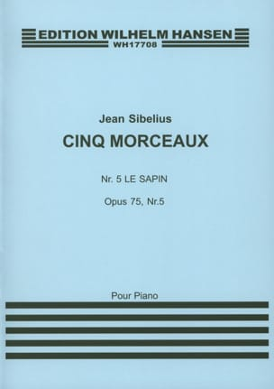 Le Sapin Opus 75-5 SIBELIUS Partition Piano - laflutedepan