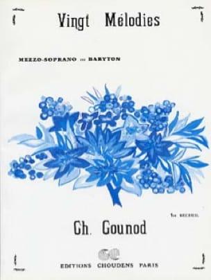 20 Mélodies Volume 1. Voix Moyenne - GOUNOD - laflutedepan.com