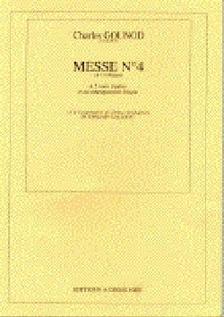 Messe N° 4 Ut Majeur GOUNOD Partition Chœur - laflutedepan