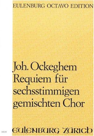 Requiem Johannes Ockeghem Partition Chœur - laflutedepan