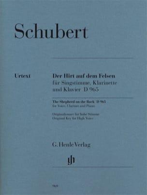 SCHUBERT - Der Hirt Auf Felsen Dem D 965 Opus Posth 129 - Partition - di-arezzo.es