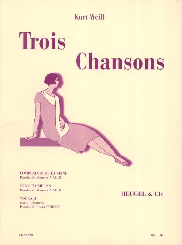 3 Chansons - WEILL - Partition - Mélodies - laflutedepan.com