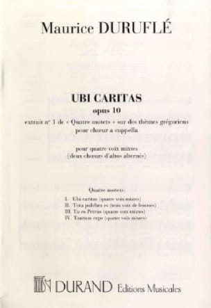 Ubi Caritas - DURUFLÉ - Partition - Chœur - laflutedepan.com
