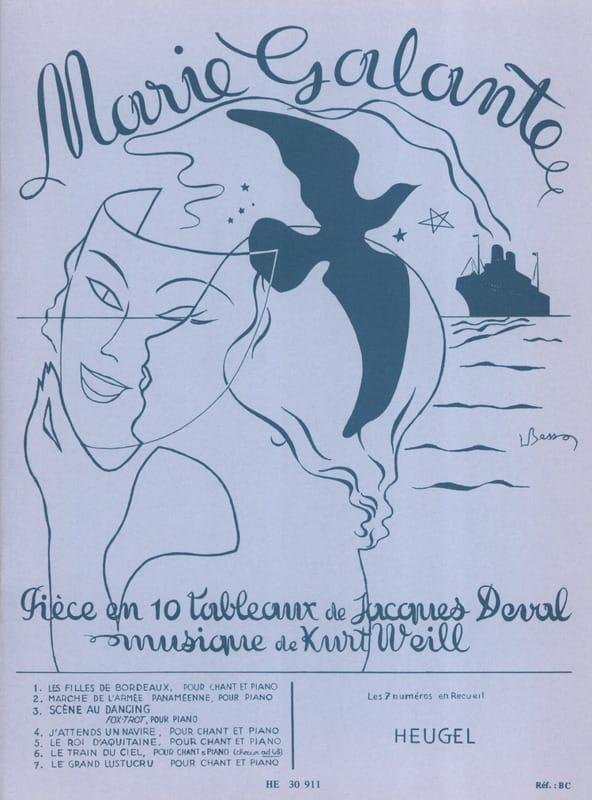 Marie Galante - WEILL - Partition - Opéras - laflutedepan.com