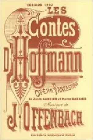 Les Contes D'Hoffmann - OFFENBACH - Partition - laflutedepan.com