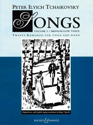 Songs Volume 2. Voix Moyenne TCHAIKOVSKY Partition laflutedepan