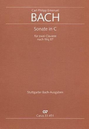 Sonate En Ut D'après Wq 87. 2 Pianos laflutedepan