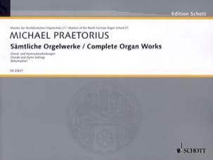 Complete Organ Works Michael Praetorius Partition Orgue - laflutedepan