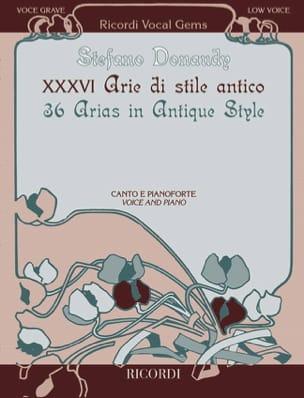 36 Arie di stile antico. Low voice - laflutedepan.com