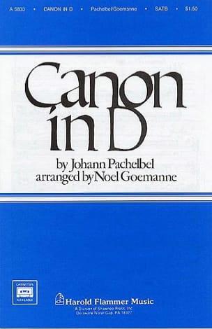Canon PACHELBEL Partition Chœur - laflutedepan