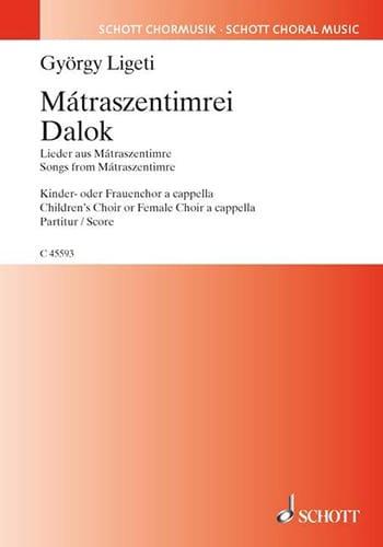 Mátraszentimrei Dalok - LIGETI - Partition - Chœur - laflutedepan.com
