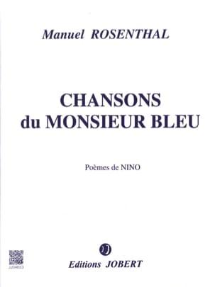 Chansons du Monsieur Bleu Manuel Rosenthal Partition laflutedepan